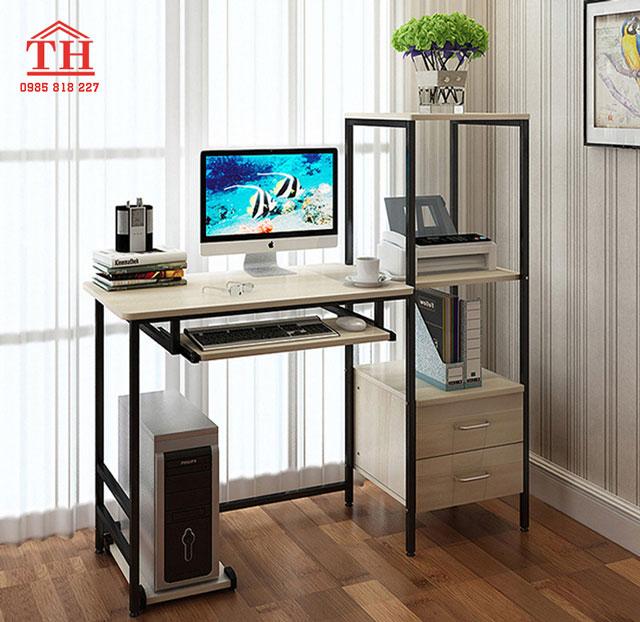 Mẫu bàn làm việc máy tính đẹp nhỏ gọn đơn giản