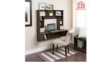 Mẫu bàn làm việc kèm giá sách tiết kiệm cho không gian nhỏ hẹp