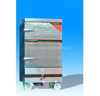 Tủ nấu cơm 12 khay gas điện kết hợp