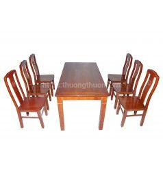 Bộ bàn ăn chữ nhật 6 ghế chữ thọ thường
