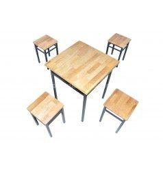 Bộ bàn ghế pallet đôn vuông