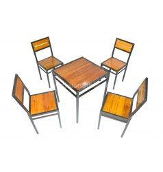 Bộ bàn ghế pallet không tay