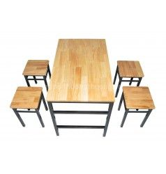 Bộ bàn ghế pallet đôn chữ nhật
