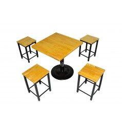 Bộ bàn ghế pallet đôn trụ