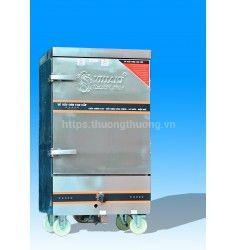 Tủ nấu cơm 10 khay gas điện kết hợp