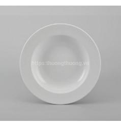 Đĩa tròn sứ sâu lòng trắng