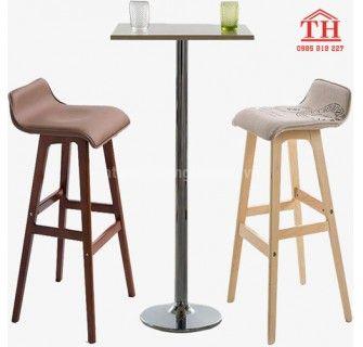 Mẫu ghế cao quầy Bar bằng gỗ nhập khẩu cao cấp