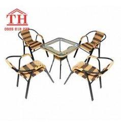 Bộ bàn ghế cafe nhựa giả mây bền đẹp giá rẻ nhất