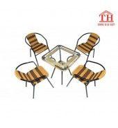 Bàn ghế sắt cafe giá rẻ đẹp gọn gàng dễ sử dụng nhất
