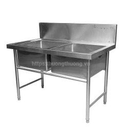 Chậu rửa inox công nghiệp 2 hố
