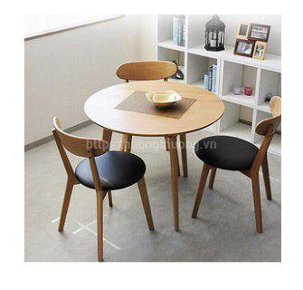 Bộ bàn ăn tròn gỗ tự nhiên