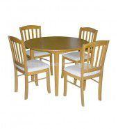 Bộ bàn ăn gỗ sồi hiện đại